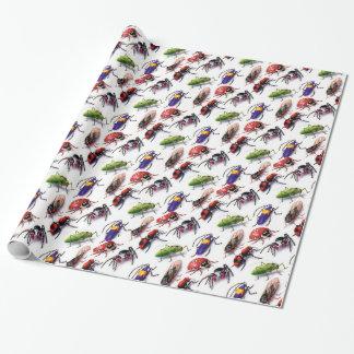 Papier Cadeau insectes d'insectes rampant partout