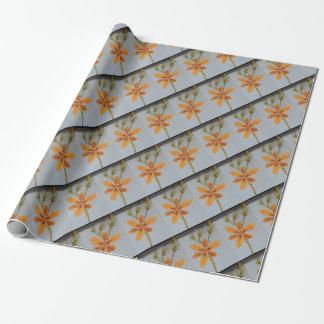 Papier Cadeau Iris repéré par orange appelé un lis de Blackberry