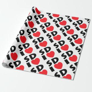 Papier Cadeau J'aime le Dakota du Sud