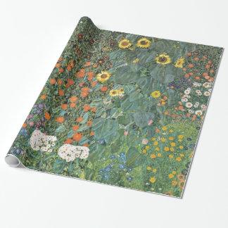 Papier Cadeau Jardin de ferme de Gustav Klimt avec des
