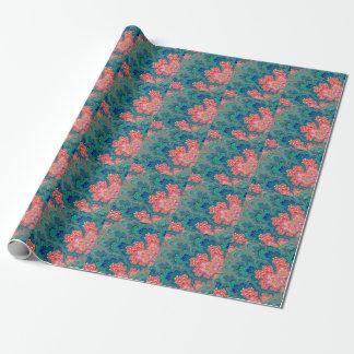 Papier Cadeau Jardin de papier d'emballage d'art de fractale de