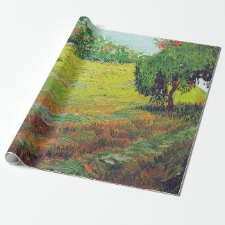 Papier Cadeau Jardin de Vincent van Gogh avec le saule pleurant