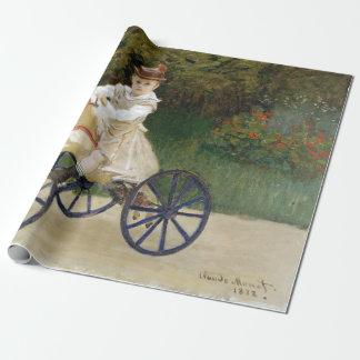 Papier Cadeau Jean Monet sur son cheval de passe-temps