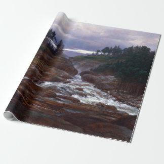 Papier Cadeau Johan Christian Dahl les automnes inférieurs de