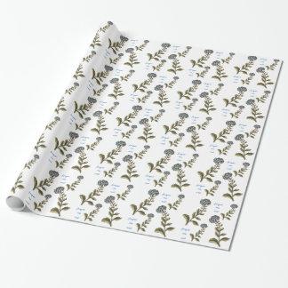 Papier Cadeau Jolies fleurs de jardin de myosotis des marais