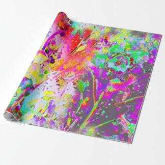 Papier Cadeau Jonquilles florales de pourpre de motif