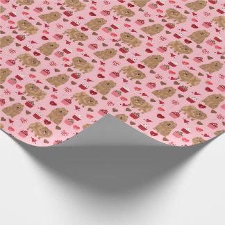 Papier Cadeau Jour de valentines de papier d'emballage de