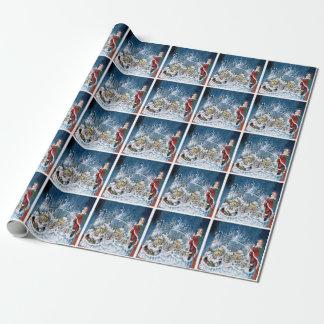 Papier Cadeau Joyeux Noël de glace
