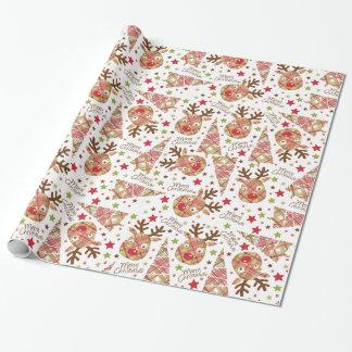 Papier Cadeau Joyeux Noël de patchwork mignon