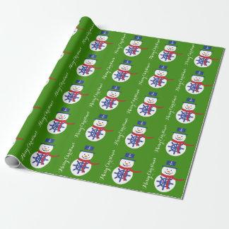 Papier Cadeau Joyeux Noël nautique