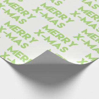 Papier Cadeau Joyeux Noël, papier d'emballage de Noël vert
