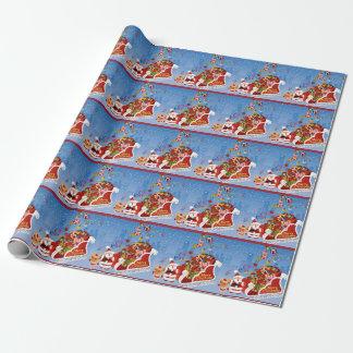 Papier Cadeau Joyeux Noël Père Noël