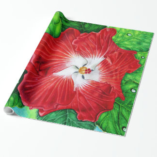 Papier Cadeau Ketmie hawaïenne