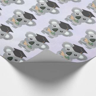 Papier Cadeau Koala mignon dans un casquette noir d'obtention du
