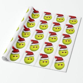 Papier Cadeau La balle de tennis sourit dans Noël