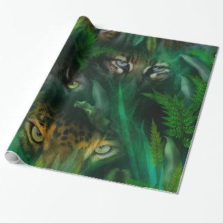 Papier Cadeau La jungle observe l'enveloppe de cadeau d'art