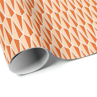 Papier Cadeau La moitié du siècle géométrique, nuances d'orange