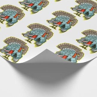 Papier Cadeau La Turquie avec un thanksgiving drôle de hache