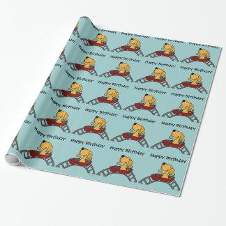 Papier Cadeau Labrador drôle sur des montagnes russes