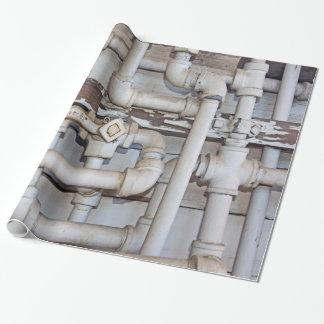 Papier Cadeau Labyrinthe des tuyaux de tuyauterie en métal