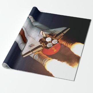 Papier Cadeau Lancement STS-45 de l'Atlantide de navette