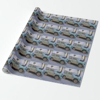 Papier Cadeau Land Rover vert