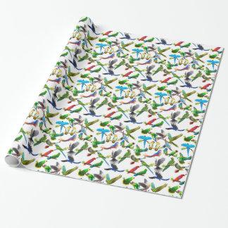 Papier Cadeau L'animal familier Parrots le papier d'emballage en