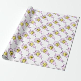 Papier Cadeau Lapin rose