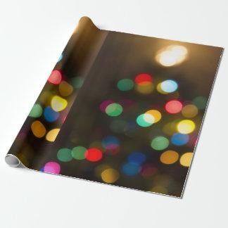 Papier Cadeau L'arbre de Noël allume l'enveloppe de cadeau