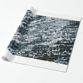 Papier Cadeau L'argent miroite les bulles gelées de glace