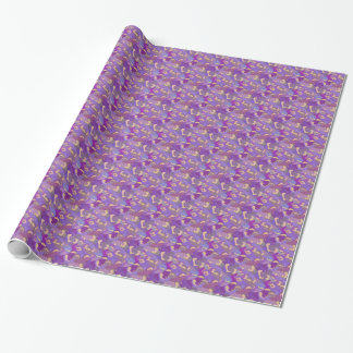 Papier Cadeau Laughing Hippos - purple