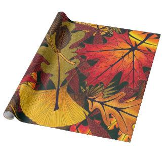 Papier Cadeau L'automne/automne laisse - le papier d'emballage