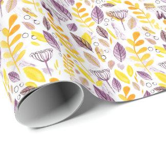 Papier Cadeau L'automne colore le papp de emballage tiré par la