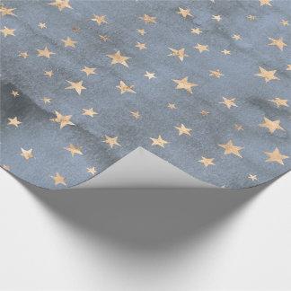 Papier Cadeau Lavande adorable d'étoile d'or de scintillement