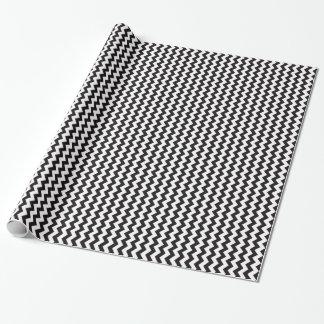 Papier Cadeau Le chevron noir et blanc zigzague motif de zigzag