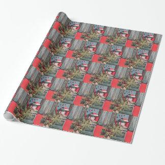 Papier Cadeau le coffre rouge de la moitié du siècle des années
