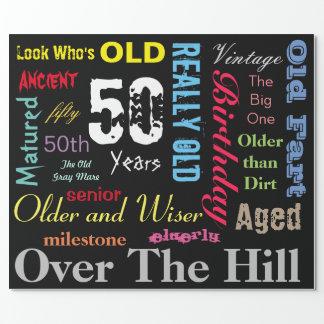 Papier Cadeau Le do-it-yourself vieillissent la cinquantième