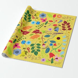 Papier Cadeau Le jour de mère floral chic moderne de Boho