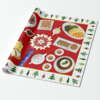 Papier Cadeau Le menu de Noël