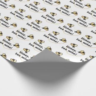 Papier Cadeau Le miel soit le mien jour de Valentines du papier
