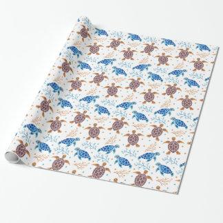 Papier Cadeau Le motif de tortue de mer