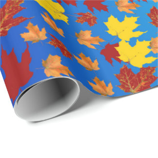 Papier Cadeau Le papier d'emballage coloré de la chute part