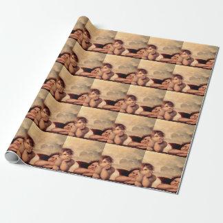 Papier Cadeau Le papier d'emballage de l'ange de Raphael