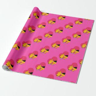 Papier Cadeau Le papier d'emballage de Valentine de chien