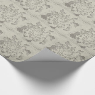 Papier Cadeau le remous gris des papillons a couvert de tuiles