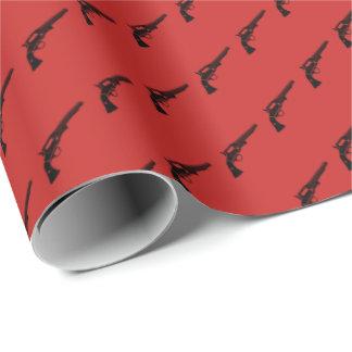 Papier Cadeau Le revolver a couvert de tuiles le rouge