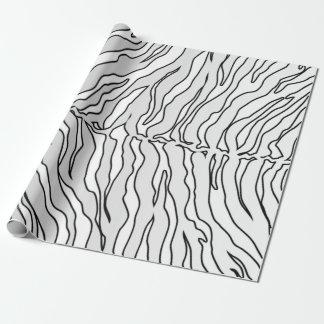Papier Cadeau Le tigre blanc et blanc barre le poster de animal