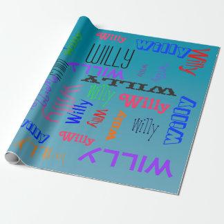 Papier Cadeau L'eau bleue personnalisée de collage de nuage de