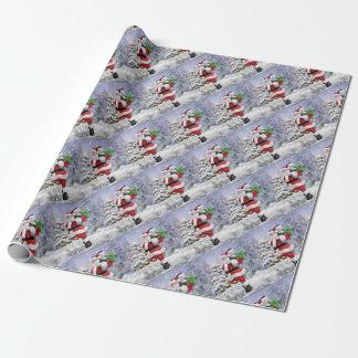 Papier Cadeau Les aides de Père Noël