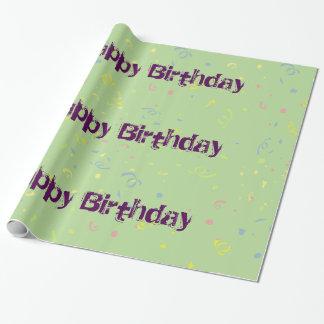 Papier Cadeau Les confettis du joyeux anniversaire